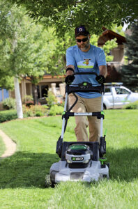 Boulder All electric lawn mowing